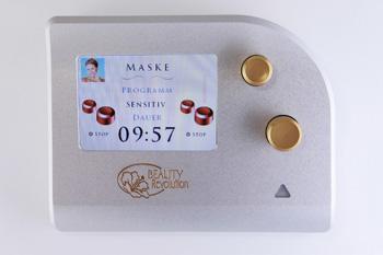 Beauty-Revolution Kosmetikgerät - Auswahl der Behandlungsgruppen via Display