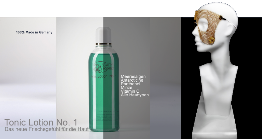 Tonic Lotion No. 1 - 100% reine Gesichtstonic für alle Hauttypen bestehend aus Panthenol, Antarcticine, Vitamin C u.v.m.