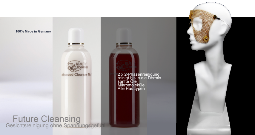Zukunftsweisendes Cleasing-Set bzw. Set zur Gesichtsreinigung, bestehend aus einer 2-Phasen-Reinigungsmilch und einem 2-Phasen-Reinigungsgel, Reinigung sämtlicher Hautschichten