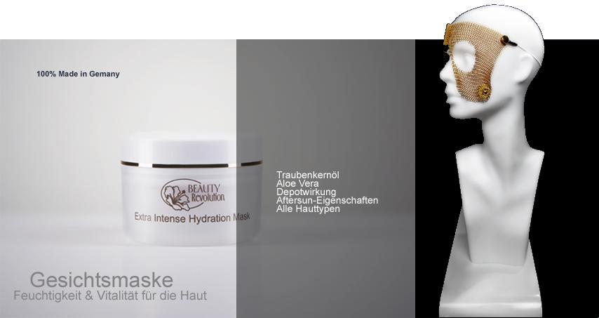 Extra Intense Hydration Mask by Beauty-Revolution - intensive Gesichts- und Feuchtigkeitsmaske mit Traubenkernölen und Aloe Vera, Naturkosmetik made in Germany bzw. aus Deutschland