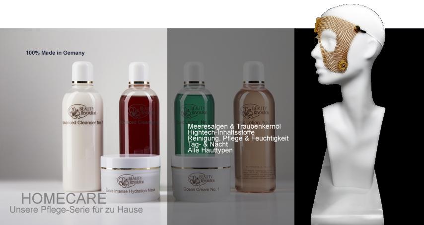 Kosmetikserie bzw. Pflegeserie der Marke Beauty Revolution - Kosmetikprodukte für der perfekte Pflege für zu Hause, ohne schädliche Inhaltsstoffe, Mineralöle, Parabene, Silikone oder Parafine